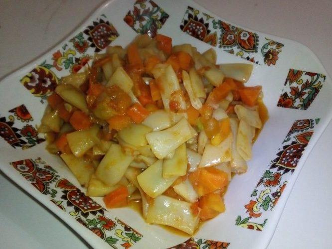 Овощное рагу со спаржевой фасолью