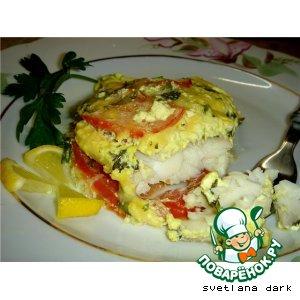 Рыба под сметанно-горчичным соусом