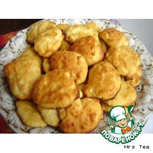 Печенье творожное с апельсиновой цедрой