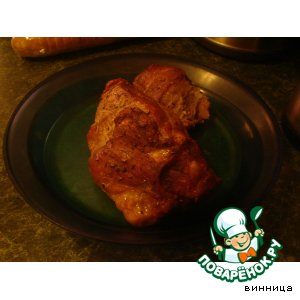 Мясо в бруснике