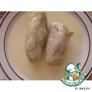Голубцы в белом соусе