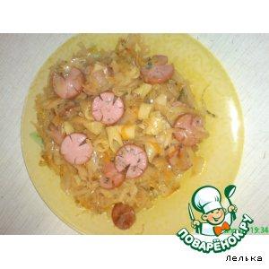 Солянка с сосисками и макаронами