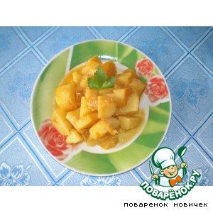 Коричневый картофель