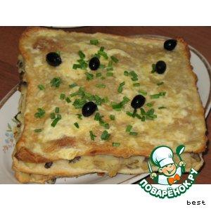 """""""Наполеон"""" с картофельной и грибной начинкой"""