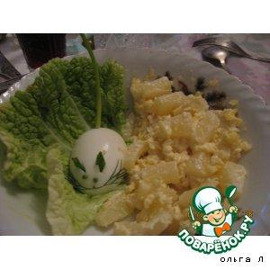 Салат из ананасов с сыром
