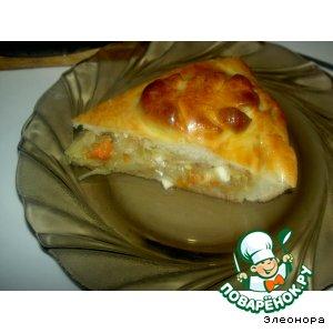 Пирог с яично-капустной начинкой