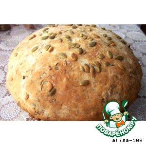 Домашний хлеб с семечками