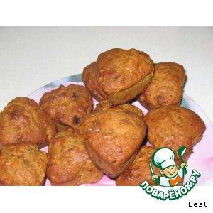 Тыквенные кексы с орехами