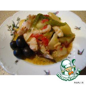 Рыба в испанском стиле