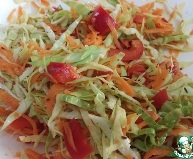 """Овощной салат """"Витаминная радуга"""""""