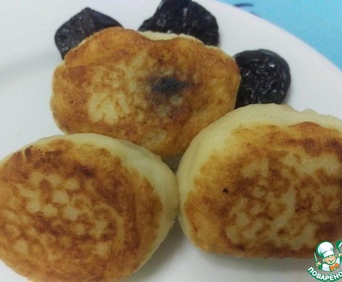 Картофельные котлеты с черносливом