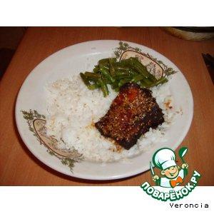 Мясо в кунжутных семечках