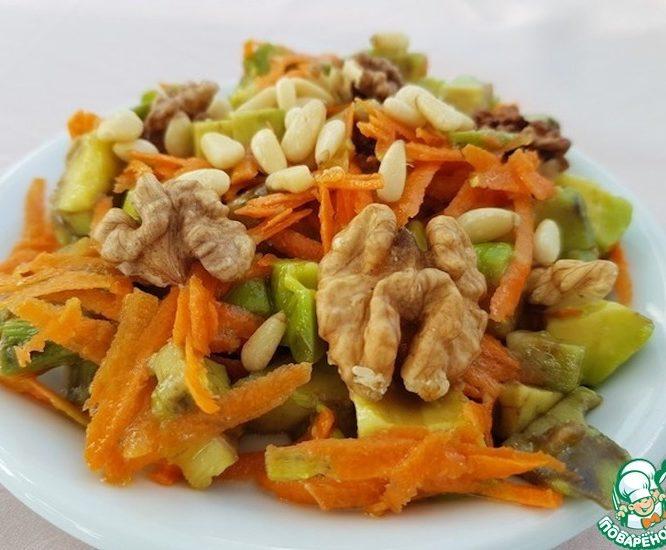 Салат из авокадо и моркови
