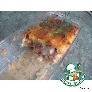 Рыбка с луком и сыром
