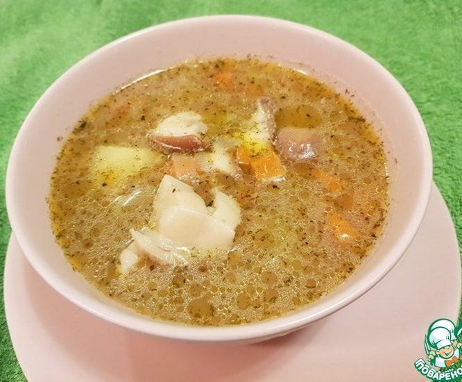 Суп крупяной с грибами