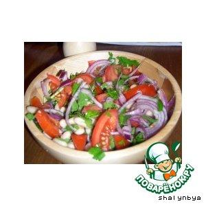 Итальянский салат из белой фасоли