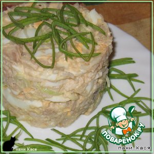 Салат куриный с рисом