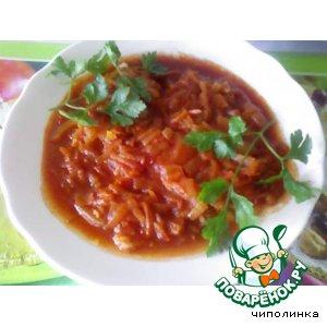 Сом в томатном соусе