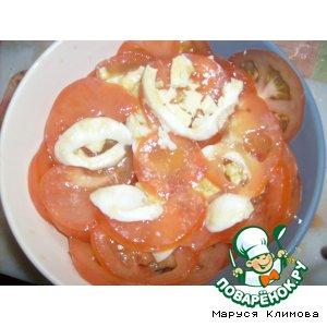 Салат из помидоров и яиц по-французски