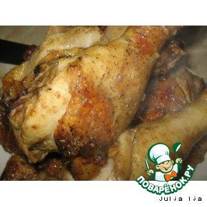 Курица, маринованная в горчице с мeдом