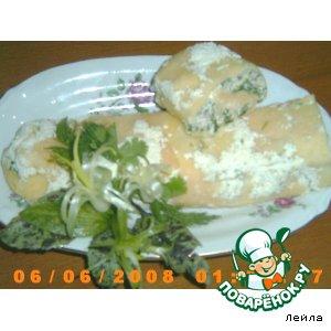Сырно-куриный рулет