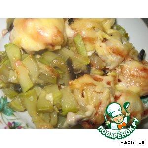 Запеканка пельменно-овощная