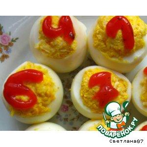 """Фаршированные яйца """"Лото"""""""