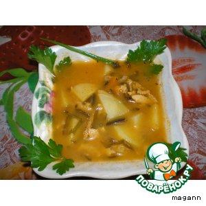 Суп рыбный с морской капустой