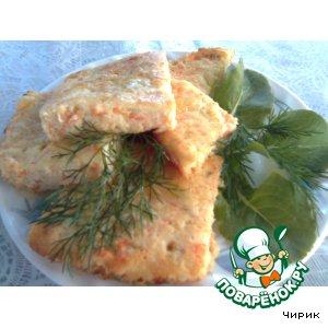 Хлебцы с творогом и рыбой