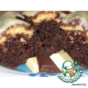 Шоколадный кекс с начинкой из сыра