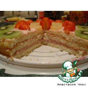 Лeгкий летний тортик
