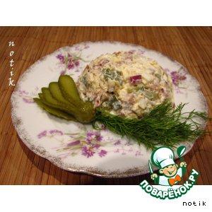 Салат с кальмарами-2