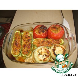 Фаршированные овощи по-французски
