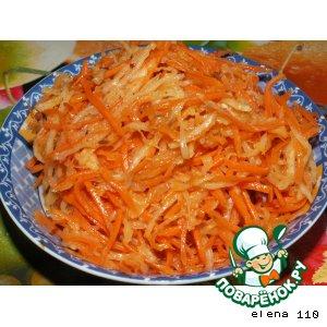 Салат из моркови и дайкона