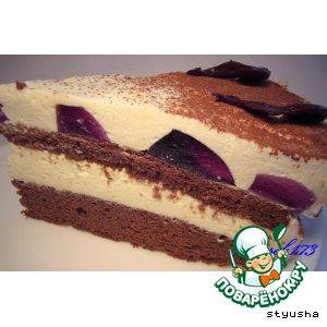 """Торт """"Шоколадный с крем-чизом и сливками"""""""