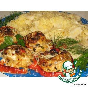 Филе судака с картофельными клецками