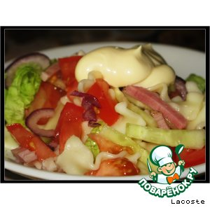 Макаронный салатик