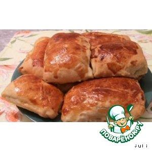 Пирожки слоеные с курицей и картофелем