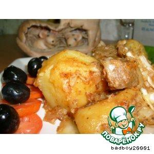 Тушеный картофель с капустой