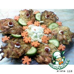 Картофельные оладушки с семгой