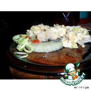 Рыба в сырных крошках