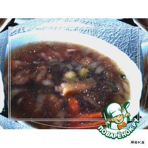 Суп грибной с оливками
