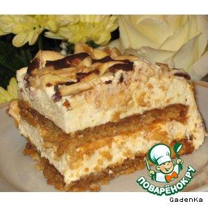 Миндальный торт с сырным кремом-суфле