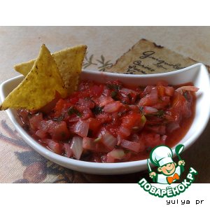 Соус для мексиканских кукурузных чипсов