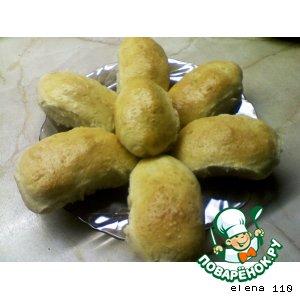 Пироги с рисом, яйцом и зеленым луком
