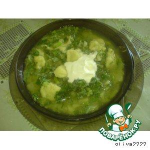 Суп из борщевика с клeцками