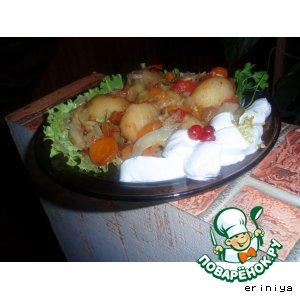Горячий салат с молодым картофелем
