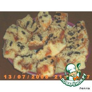 Абрикосовые пирожные с хрустящей посыпкой