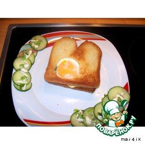 Лeгкий сэндвич к завтраку