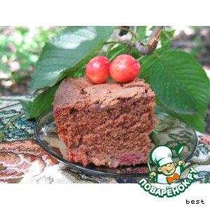 Шоколадные пирожные с черешней